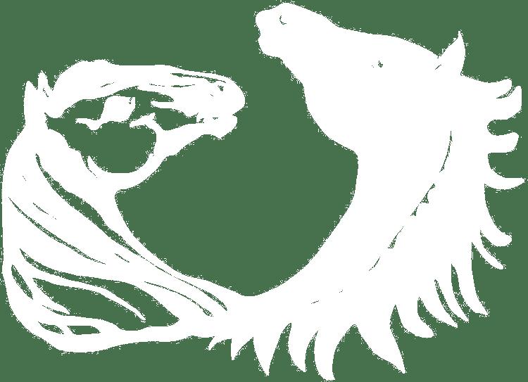 Logo manège de Château-d'Oex - blanc-transparent