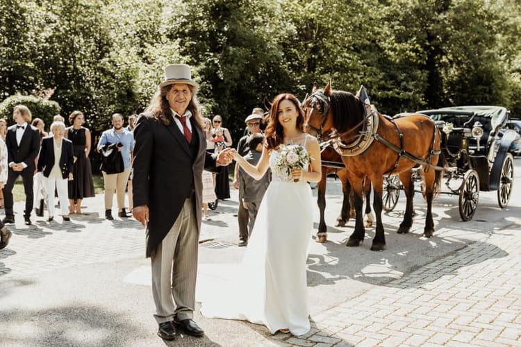 Promenade attelée pour un mariage - Manège de Château-d'Oex - Ecole d'équitation Jen Blatti